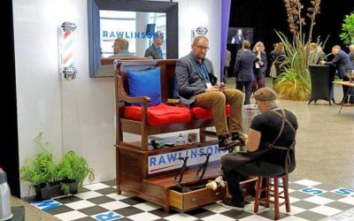 Rawlinsons 'shoe-shine' voted best exhibition booth