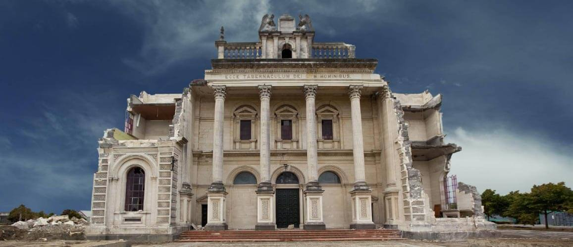 Earthquake damaged Cathedral
